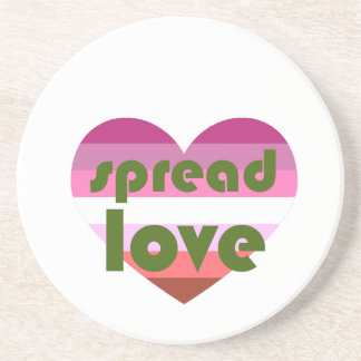 Spread Lesbian Love Coaster