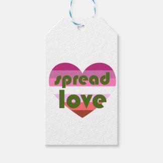 Spread Lesbian Love Gift Tags