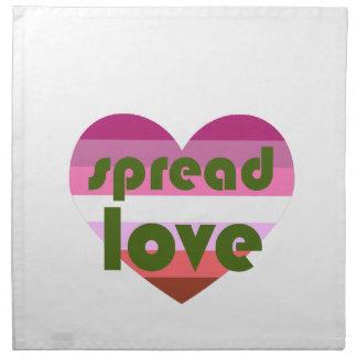 Spread Lesbian Love Napkin