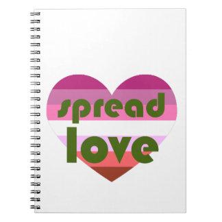 Spread Lesbian Love Notebook