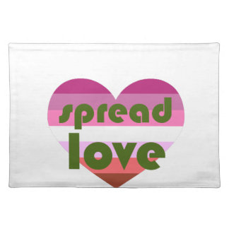 Spread Lesbian Love Placemat