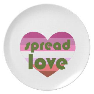 Spread Lesbian Love Plate