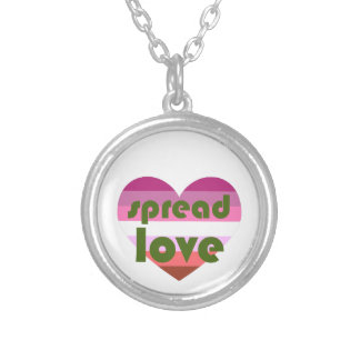 Spread Lesbian Love Silver Plated Necklace