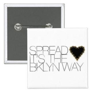 Spread Love 15 Cm Square Badge