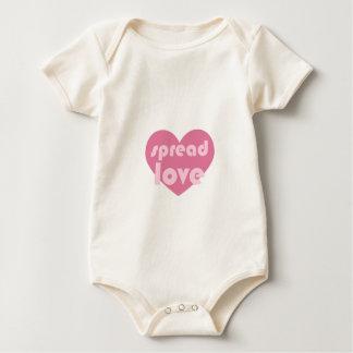 Spread Love (general) Baby Bodysuit