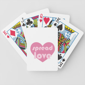 Spread Love (general) Bicycle Playing Cards