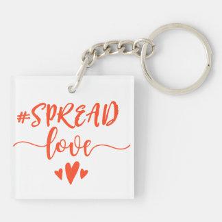 Spread love key ring