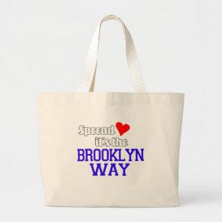 Spread Love The Brooklyn Way Jumbo Tote Bag
