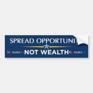 Spread Opportunity - Not Wealth Bumper Sticker
