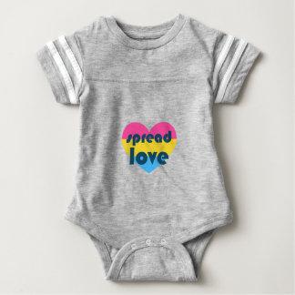 Spread Pansexual Love Baby Bodysuit