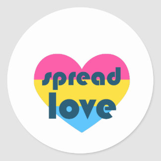 Spread Pansexual Love Classic Round Sticker