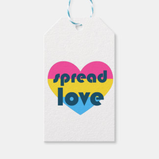 Spread Pansexual Love Gift Tags