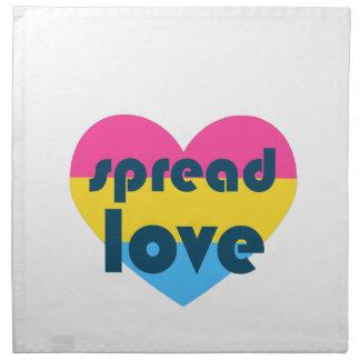 Spread Pansexual Love Napkin