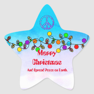 Spread Peace On Earth Christmas Sticker