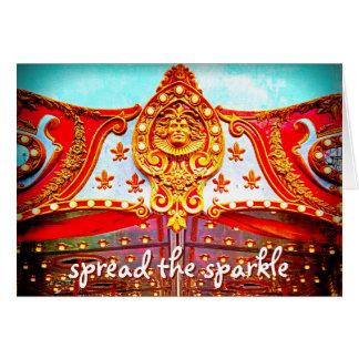 """""""Spread sparkle"""" carousel face photo blank inside Card"""