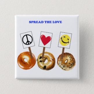 Spread the love 15 cm square badge