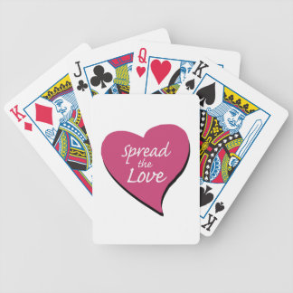 Spread The Love Bicycle Playing Cards