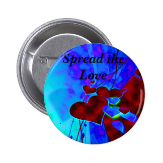 Spread the Love_Button_by Elenne Boothe 6 Cm Round Badge