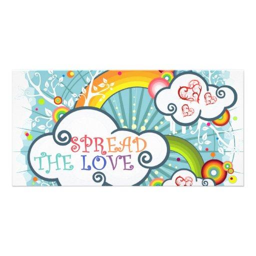 Spread the love photo card
