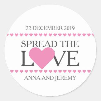 Spread the love sticker wedding favours jam honey