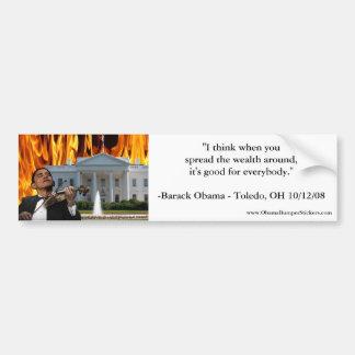 Spread The Wealth Around Anti-Obama Bumper Sticker