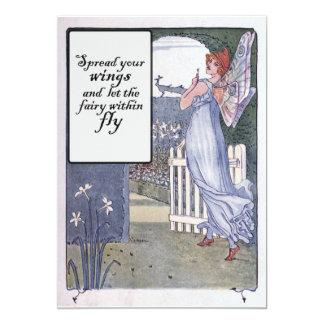 "Spread your Fairy Wings 5"" X 7"" Invitation Card"