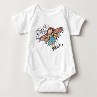 """Spread Your Wings & Fly"" Butterfly Girl bodysuit"