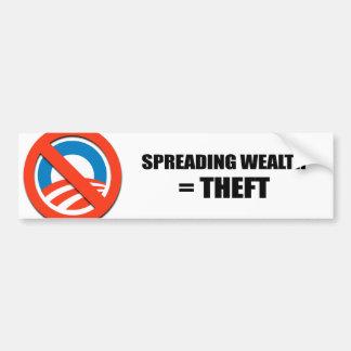 Spreading wealth - Theft Bumper Sticker