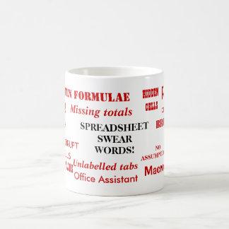 Spreadsheet Swear Words! - Very Rude Office Mug