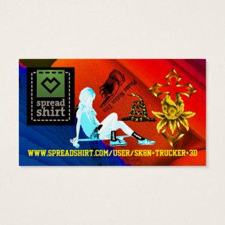 SPREADSHIRT SK8N TRUCKER 3D DIGITAL KID BACKGROUND BUSINESS CARD