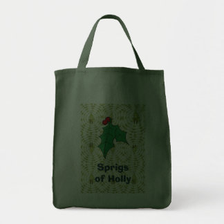 Sprigs of holly tote bag