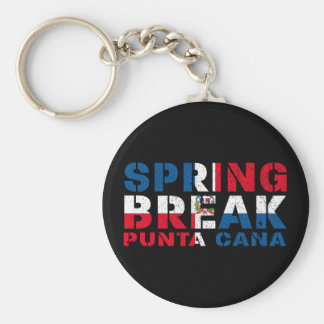 Sprin Break Punta Cana Dominican Republic Basic Round Button Key Ring
