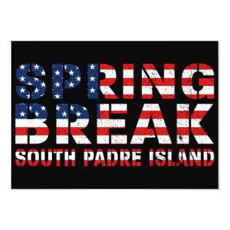 Sprin Break South Padre Island US Flag Card