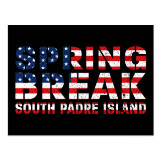 Sprin Break South Padre Island US Flag Postcard