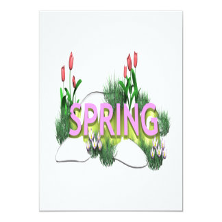 "Spring 11 5"" x 7"" invitation card"