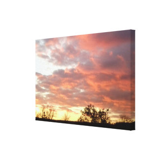 Spring 2016 Sunset Photo 1 Wrapped Canvas Stretched Canvas Print