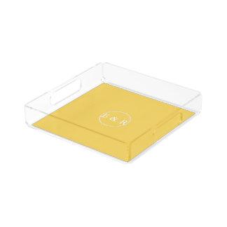 Spring 2017 Designer Colors Primrose Yellow Acrylic Tray