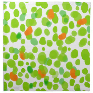 Spring 2017  green dots pattern. napkin