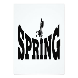 "Spring 6 5"" x 7"" invitation card"