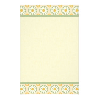 Spring Abstract Floral Border Stationery