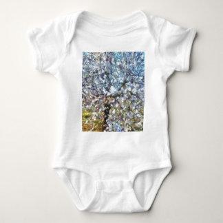 Spring Almond Blossom Baby Bodysuit