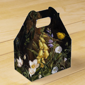 Spring Alpine Wildflower Flowers Floral Favor Box Wedding Favour Boxes