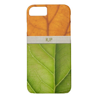 Spring and Fall Leaf Personalized iPhone 7 Case