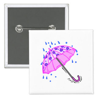 Spring April Showers Pinback Buttons