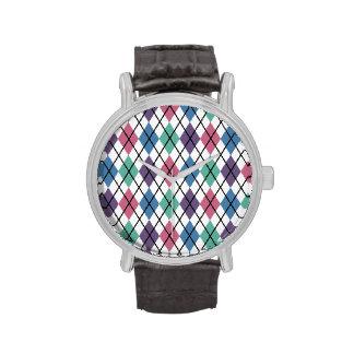 Spring Argyle Pattern Watches
