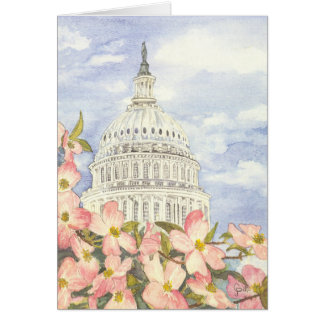 Spring at the Capitol Birthday Card