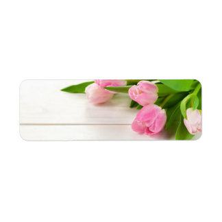 Spring Background with Tulip Flowers Return Address Label