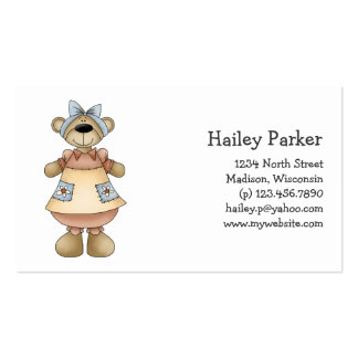 Spring Bears · Apricot Dress Business Cards