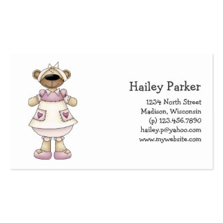 Spring Bears · Mauve Pinafore Business Cards
