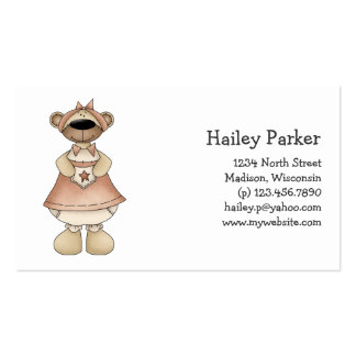 Spring Bears · Rosy Brown Dress Business Card Template